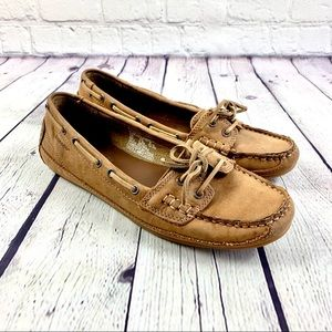 Sebago Suede Leather Moccasins Size 8